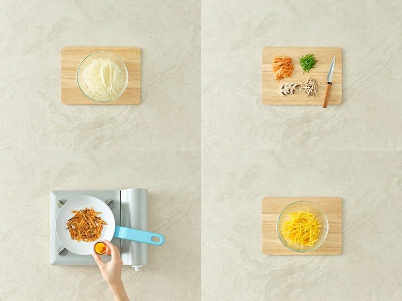 Rezept für Kimchi Kartoffelpuffer