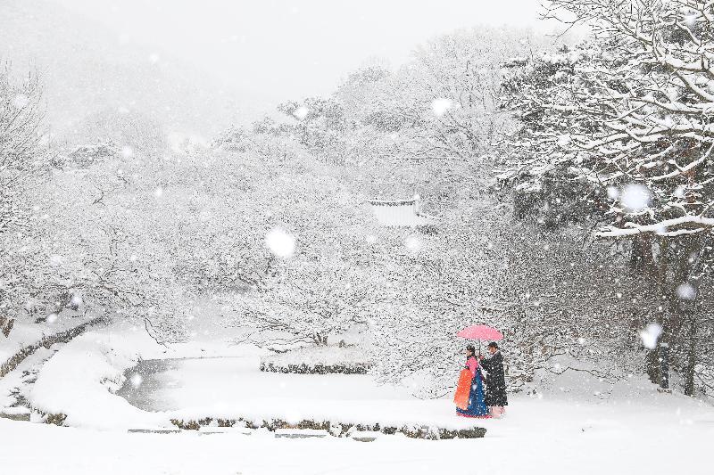 Schneefoto vom Tourismus-Wettbewerb in Korea